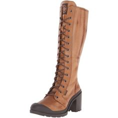 Palladium Women's Parade Heel L Zip Combat Boot ($185) ❤ liked on Polyvore featuring shoes, boots, ankle booties, zipper booties, heel boots, zipper combat boots, military boots and army boots