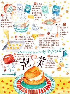 Dessert Notebook on Behance Dessert Illustration, Graphic Illustration, Desserts Drawing, Recipe Drawing, Food Doodles, Pinterest Instagram, Food Sketch, Food Journal, Food Drawing