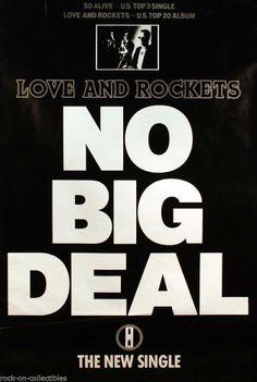 Love And Rockets 1989 No Big Deal UK Original Jumbo Promo Poster #loveandrockets