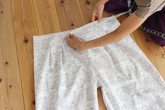 タック入りサーカスパンツの製図・型紙と作り方 | nunocoto fabric Linen Pants, Gym Men, Sewing, Fabric, Fashion, Dressmaking, Tejido, Moda, Tela