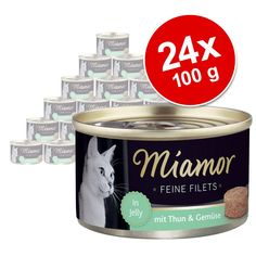 Animalerie  Lot Miamor Filets Fins 24 x 100 g pour chat  poulet jambon riz en gelée