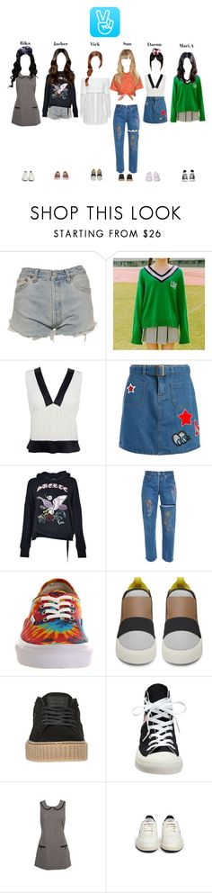 """""""V Live"""" by starz-official ❤ liked on Polyvore featuring Levi's, DKNY, Chanel, Sans Souci, Marcelo Burlon, Vans, Balenciaga, Converse, Miss Selfridge and Reebok"""