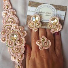 Wire Jewelry, Beaded Jewelry, Jewelery, Unique Jewelry, Homemade Jewelry, Diy Jewelry Making, Tree Of Life Jewelry, Soutache Earrings, Cute Necklace