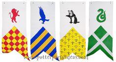 Harry Potter Decoration Ideas - House Banners - Harry Potter Party Ideas