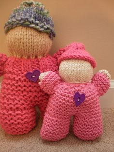 Waldorf babies knit