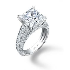 Enlarge Princess Cut Diamond Engagement Ring - #SY148