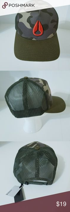 Nixon camouflage Snapback ball cap New with tags Nixon Accessories Hats