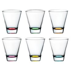 Bộ 6 Ly Uống Rượu Confetti 32cl, Code 62230EM: Từ bộ sưu tập cốc nước thủy tinh thương hiệu Vetri delle Venezie có thiết kế với đáy thủy tinh nhiều màu. Nhờ mà