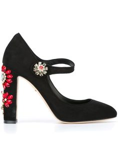 DOLCE & GABBANA 'Vally' Mary Jane Pumps. #dolcegabbana #shoes #pumps