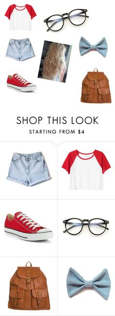 """""""casual back to school outfit!"""" by amcgirl22 ❤ liked on Polyvore featuring Monki, Converse, Wildfox and even&odd"""