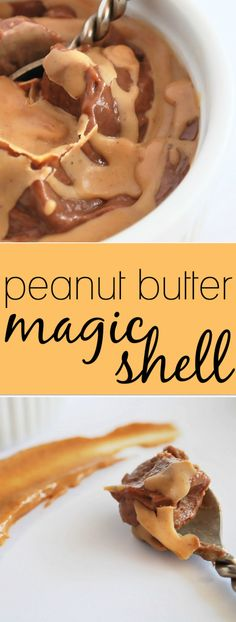Peanut Butter Magic Shell: This childhood favorite ice cream topper is made with only two whole food, gluten free, and vegan ingredients! Summer never tasted so sweet!    fooduzzi.com