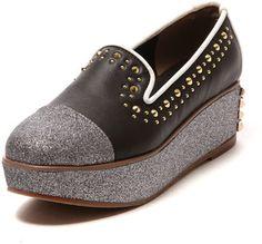 Studs platform shoes / ShopStyle: Flapper 厚底オペラシューズ