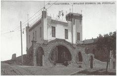 Així era la plaça del funicular de Vallvidrera «la plaça de dalt», que es va anomenar després plaça de Pep Ventura
