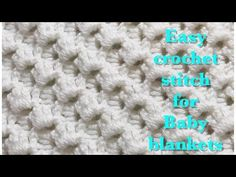 Fast and easy crochet stitch for baby blankets #89 - YouTube