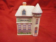 Lenox Spice Village Victorian House Oregano Jar Porcelain 1989 Free Shipping | eBay