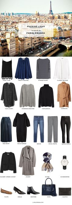 What to pack for Paris, France is the packing list for this week. It is for a honeymoon in April It's actually 5 days in Paris and 7 days on