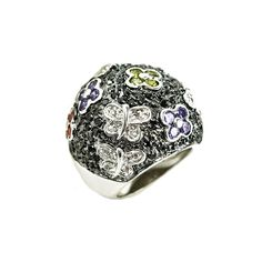 CZ pave multicolored ring. Sizes 6-9. Item #: r1611