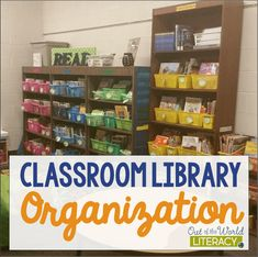 Classroom Library Organization - Out of this Word Literacy Kindergarten Library, Dual Language Classroom, Library Organization, Education Major, 5th Grade Teachers, Future Classroom, Classroom Ideas, Out Of This World, Classroom Management
