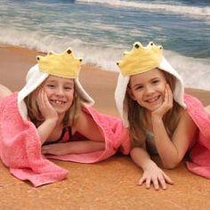 Large Colorful Oversized Hooded Bath Towels for Older Kids - Monsters, Princess, Robot, Ladybug, Flower