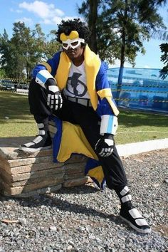 Static Shock DC #cosplay <<< Nice! #FanX is coming April 17-19, 2014! saltlakecomiccon.com >>>