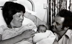 Lesley and John Brown with there daughter Louise, the worlds first IVF baby, in July1978