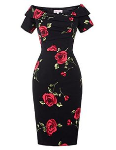 Quality Women Summer Dress Vestidos Sexy Off The Shoulder Rose Print Bodycon Slim Pencil Dress Big Size Rockabilly Vintage Dresses with free worldwide shipping on AliExpress Mobile 50s Dresses, Sexy Dresses, Vintage Dresses, Short Sleeve Dresses, Party Dresses, Office Dresses, Cheap Dresses, Homecoming Dresses, Long Sleeve
