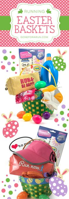 Surprise your favorite runner this Easter with our super festive Easter baskets designed for Runners!!
