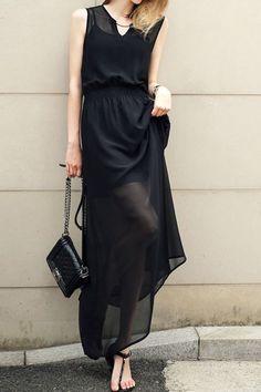 sheer black maxi dress