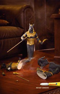 Fevikwik Instant Glue: Egyptian Warrior   Ads of the World™