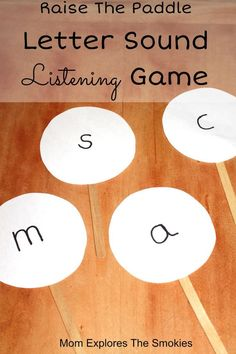 This is an interactive letter sounds learning activity for preschool or kindergarten.