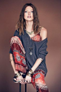 Free Peoples Sacred Geometry Lookbook Stars Martha Hunt