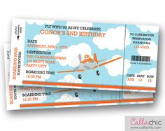 Disney Planes Invitation PRINTABLE Airplane Boarding by CallaChic