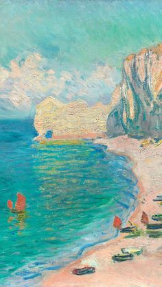 Download free image of Monet iPhone wallpaper, phone background, The Beach and the Falaise d'Amont famous painting by The Art Institute of Chicago (Source) about claude monet, monet paintings, iphone wallpaper, The Beach and the Falaise d'Amont, and painting 3933450