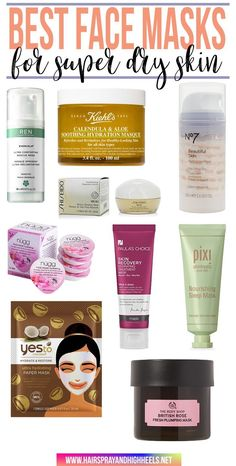 BOOKMARK THIS! The BEST face masks for SUPER DRY skin.
