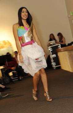 A skirt from plastic Safeway grocery bags from the 4th Annual Eco Fashion and Arts Show.