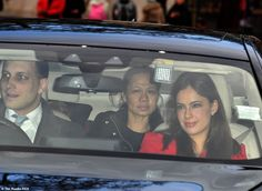 Regal in red: Lord Frederick Windsor, son of Prince and Princess Michael of Kent, arrives with wife Sophie Winkleman Princess Estelle, Princess Margaret, Prince And Princess, Princess Charlotte, Princess Of Wales, Sophie Winkleman, Lord Frederick Windsor, Prince Michael Of Kent, Royal Video