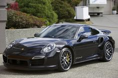 2015 Porsche 911 (991) Turbo S - Jet Black Metallic finished in Black / Carrera Red leather interior