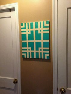 Trendy Ideas For Simple Canvas Art Ideas Painters Tape Diy Artwork, Diy Wall Art, Diy Wall Decor, Diy Home Decor, Easy Canvas Art, Canvas Crafts, Diy Canvas, Painted Canvas, Canvas Ideas