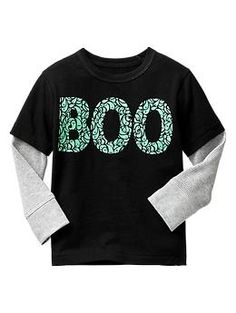 2-in-1 glow-in-the-dark Halloween tee - A dose of scary silly thats cute enough to be a costume. Boo!