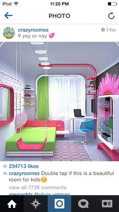 This is so awesome. I love the idea of the swing and how everything comes together in the room