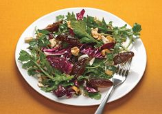 Radicchio and Arugula Salad with Dates, Hazelnuts, and Feta