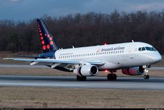 Brussels Airlines Sukhoi Superjet 100 EI-FWD touching down on at Basel-Mulhouse, December (Photo: Hervé Champain) Sukhoi Superjet 100, Passenger Aircraft, Civil Aviation, Airports, Airplanes, The 100, Ice Cream, Commercial Aircraft, Aircraft