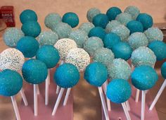 Blue Cake Pops, Blue Cakes, Desserts, Food, Tailgate Desserts, Deserts, Essen, Postres, Meals