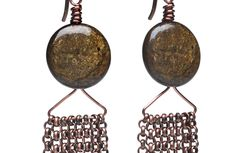 Copper chain earrings | BeadStyleMag.com