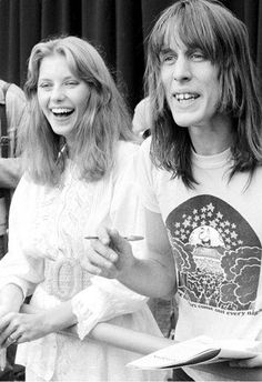 Bebe Buell with one of her lovers, Todd Rundgren.  Bebe incarnates rock n' roll.  Almost Famous.
