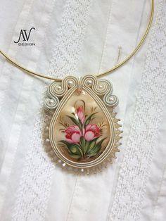 """Soutache pendant """"Flowers"""". $80,00, via Etsy."""
