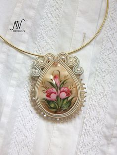 Soutache pendant Russian style by AnnetaValious on Etsy, $80.00