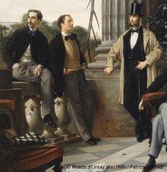 James Tissot (1836-1902)Le Cercle de la rue Royale1868Huile sur toileH. 174,5 ; L. 280 cmParis, musée d'Orsay© Musée d'Orsay, dist.RMN / Patrice Schmidt (détail)