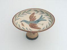 Girl Head and Bird Plate. Helen Kemp.