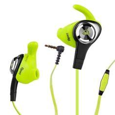 Monster iSport Intensity In-Ear Sweatproof/Washable Headphones w/Control Talk Inline-Mic (Green)